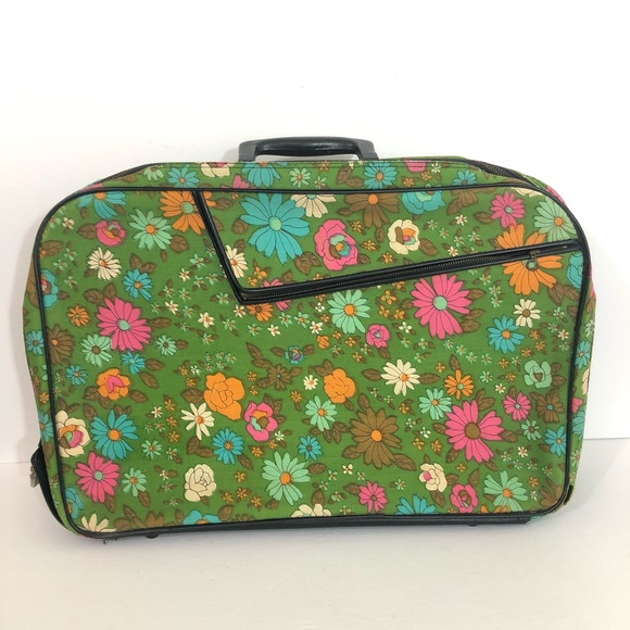 e21e69c4c2b7 AD Sutton & Sons Bags | Ad Sutton Sons Vintage Floral Suitcase ...